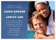 Chevron Edge invitations