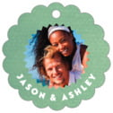 Chevron Edge Scallop Hang Tag In Mint