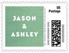 Chevron Edge wedding postage stamps