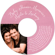 Scallop Edge baby shower CD/DVD labels