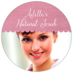 Scallop Edge Circle Label In Pale Pink