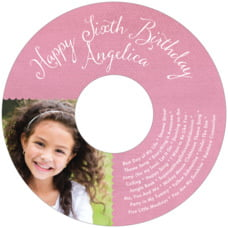 Scallop Edge birthday CD/DVD labels