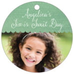 Scallop Edge circle hang tags