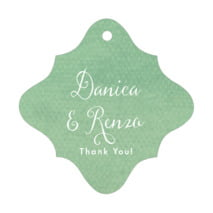 Scallop Edge fancy diamond hang tags