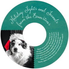 Scallop Edge holiday CD/DVD labels