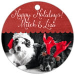 Scallop Edge holiday gift tags