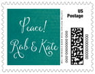 Scallop Edge christmas postage stamps