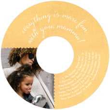 Scallop Edge Cd Label In Sunburst