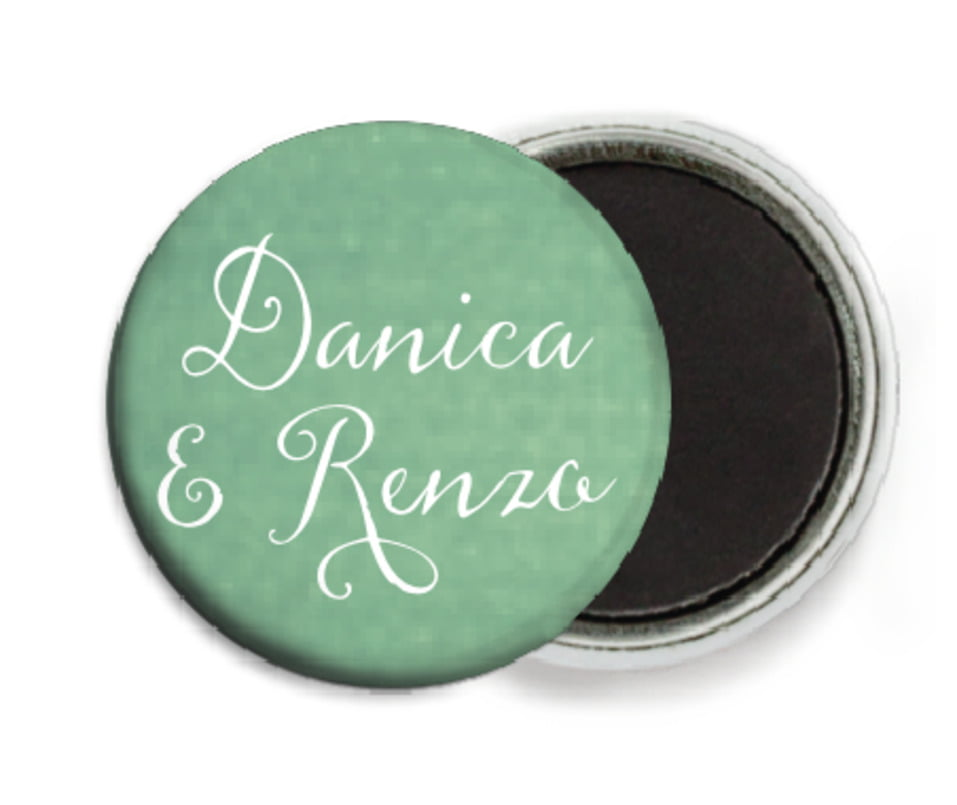 custom button magnets - mint - scallop edge (set of 6)
