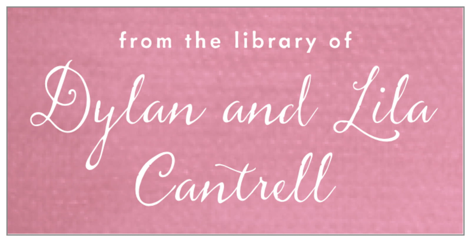 bookplates - pale pink - scallop edge (set of 24)