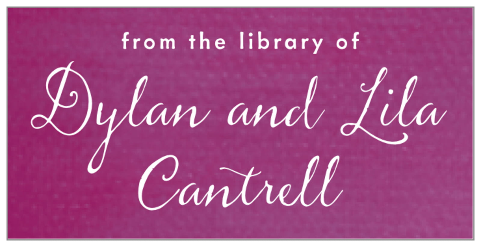 bookplates - radiant orchid - scallop edge (set of 24)