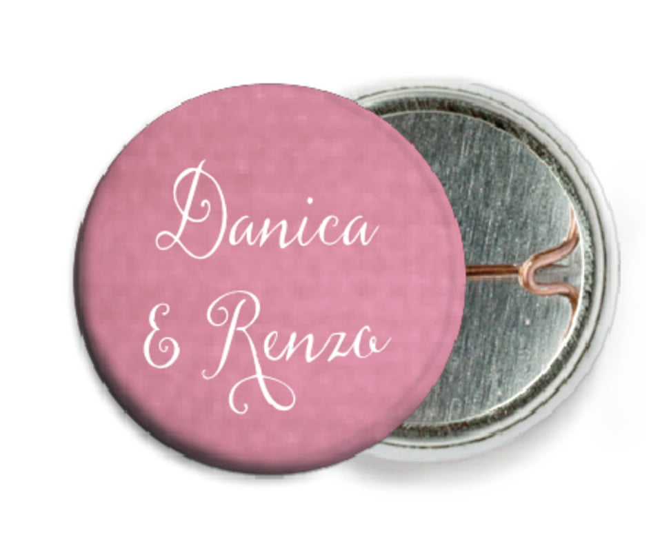 custom pin back buttons - pale pink - scallop edge (set of 6)