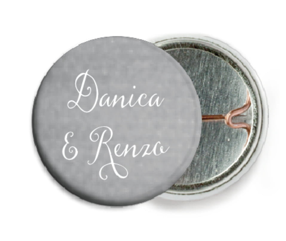 custom pin back buttons - stone - scallop edge (set of 6)