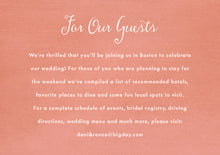 custom enclosure cards - peach - scallop edge (set of 10)