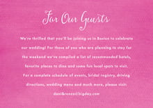 custom enclosure cards - bright pink - scallop edge (set of 10)