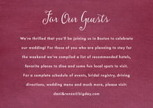 custom enclosure cards - burgundy - scallop edge (set of 10)