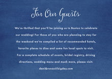 custom enclosure cards - deep blue - scallop edge (set of 10)