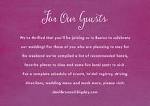custom enclosure cards - radiant orchid - scallop edge (set of 10)