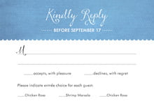 custom response cards - blue - scallop edge (set of 10)