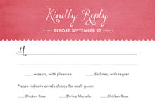 custom response cards - deep coral - scallop edge (set of 10)