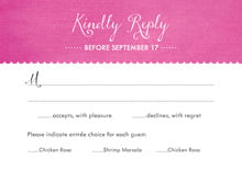 custom response cards - bright pink - scallop edge (set of 10)