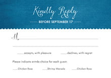 custom response cards - bahama blue - scallop edge (set of 10)
