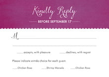 custom response cards - radiant orchid - scallop edge (set of 10)