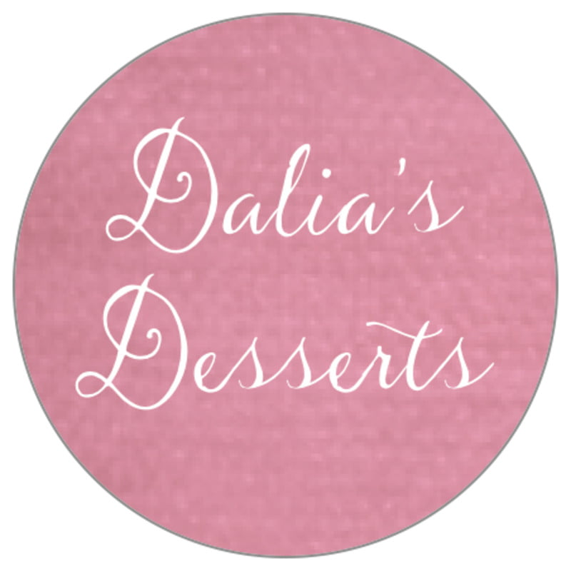 circle food/craft labels - pale pink - scallop edge (set of 35)