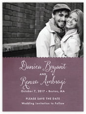 Scallop Edge save the date cards