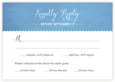 Scallop Edge response cards