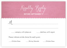 Scallop Edge Response Card In Pale Pink