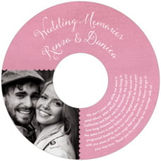 Scallop Edge Cd Label In Pale Pink