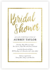 Bridal Shimmer Card In Gold