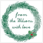 Joyful Wreath square labels