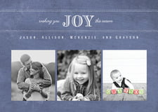 holiday cards - chalkboard blue - joyful chalkboard (set of 10)