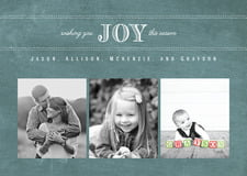 holiday cards - chalkboard green - joyful chalkboard (set of 10)