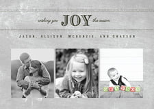 holiday cards - chalkboard stone - joyful chalkboard (set of 10)