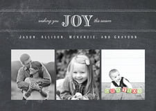 holiday cards - chalkboard tuxedo - joyful chalkboard (set of 10)