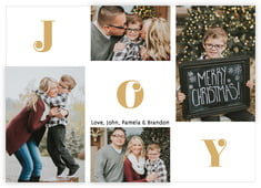 Joyful Greetings Photo Cards - Horizontal In Gold