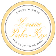 Just Glamorous large circle labels