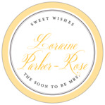 Just Glamorous circle labels