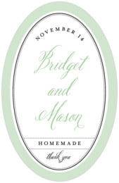 Just Glamorous tall oval labels