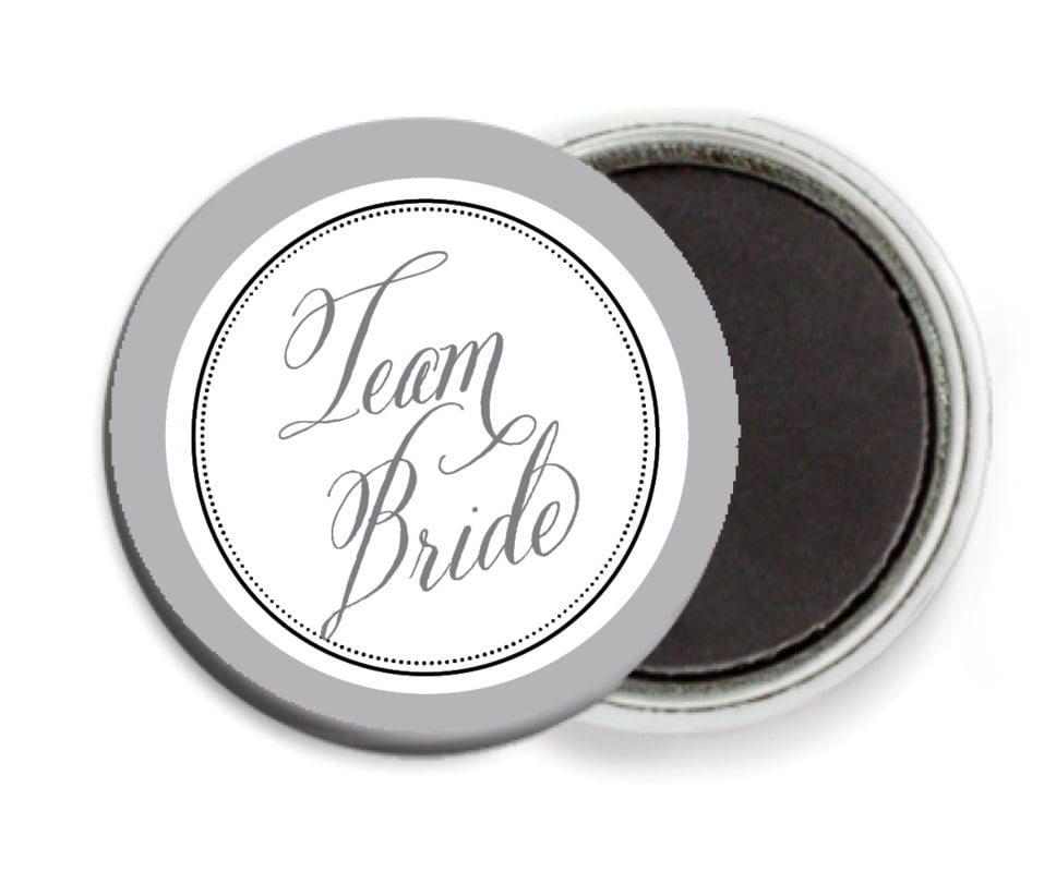 custom button magnets - charcoal - just glamorous (set of 6)