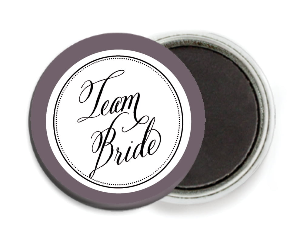 custom button magnets - black - just glamorous (set of 6)