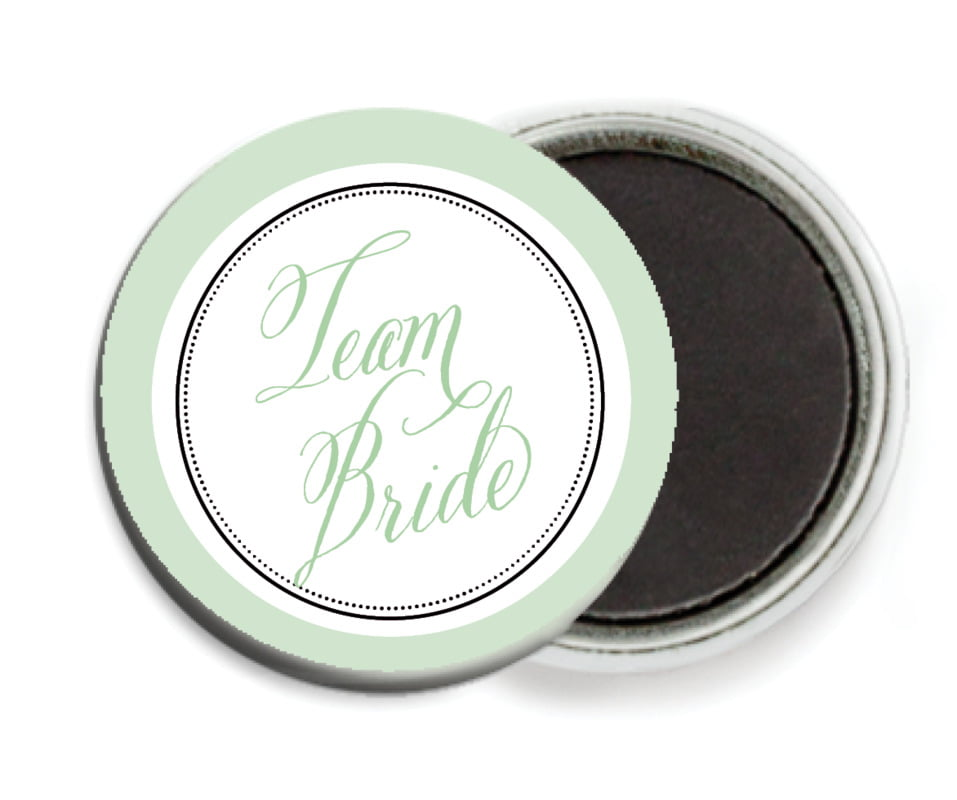 custom button magnets - mint - just glamorous (set of 6)