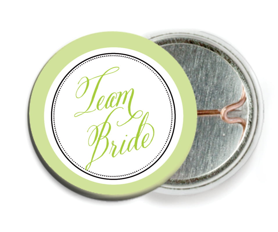 custom pin back buttons - lime - just glamorous (set of 6)