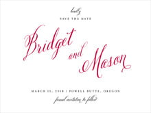 custom save-the-date cards - deep red - just glamorous (set of 10)
