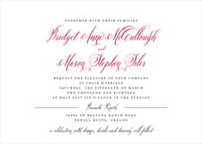 custom invitations - deep red - just glamorous (set of 10)