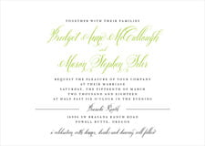 custom invitations - lime - just glamorous (set of 10)