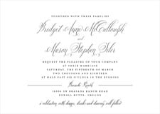 custom invitations - charcoal - just glamorous (set of 10)